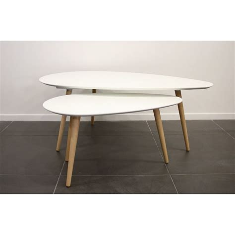 table basse bois blanche surf table basse gigogne blanche achat vente tables