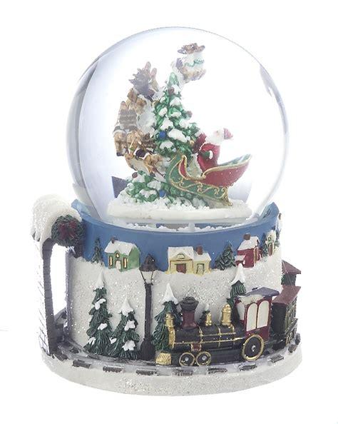 large santa snow globe christmas ornament santa