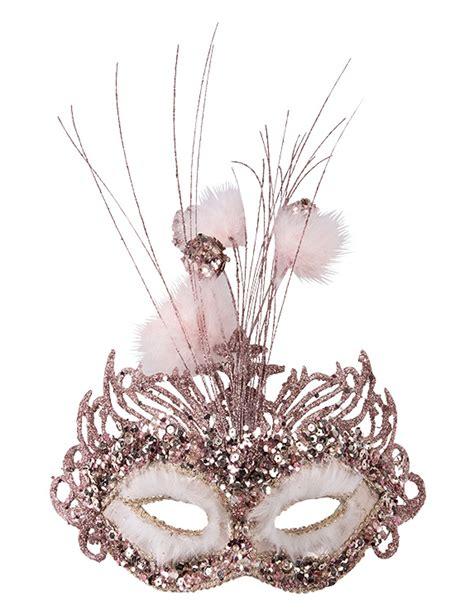 le federn venezianische maske mit verzierung und federn rosa f 252 r