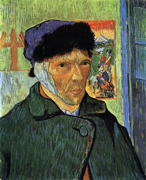 van gogh ear self portrait with bandaged ear by gogh vincent van