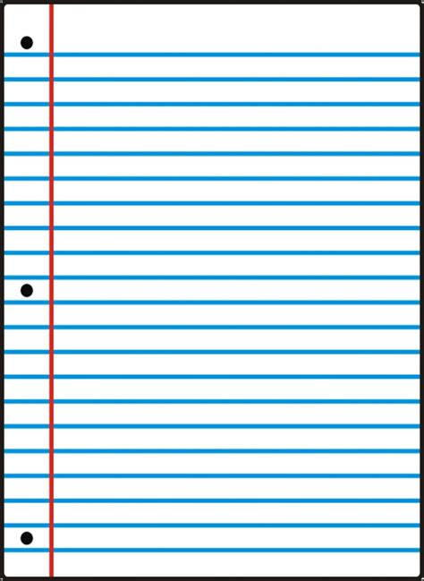 free printable lined paper with clipart free printable notebook paper college wide ruled