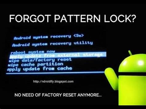pattern unlock backup pin unlock pattern or pin lock without any data loss youtube