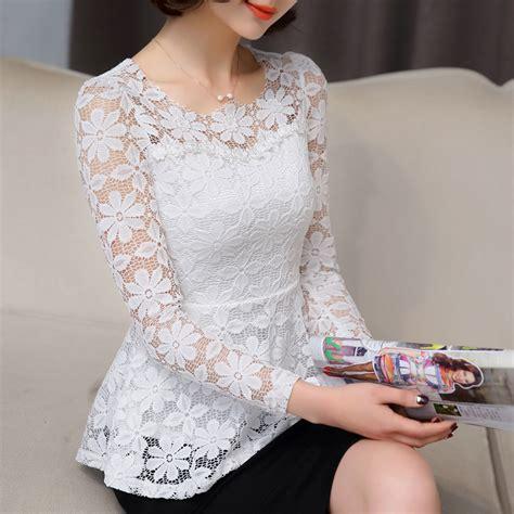 aliexpress tops new summer blusas peplum top 2017 black white lace blouse
