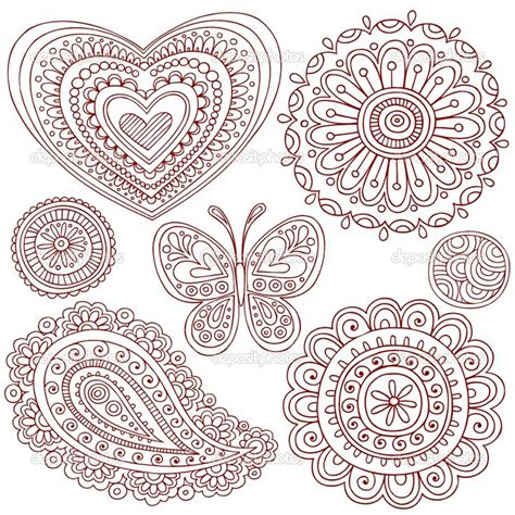 paisley doodle vector free depositphotos 2764703 henna mehndi paisley doodle vector