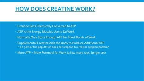 creatine does what how does creatine work to build programs