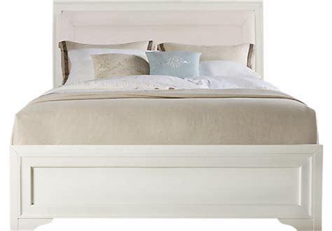 Vergara White Qn belcourt white 3 pc upholstered bed beds colors