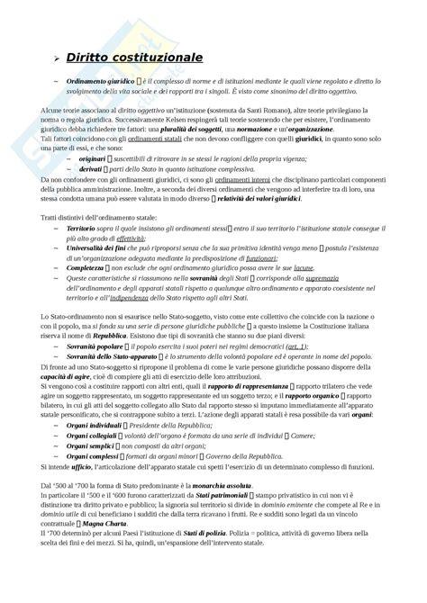 dispensa diritto costituzionale diritto costituzionale appunti prima parte