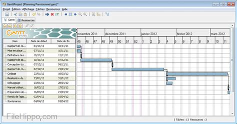 imprimer diagramme de gantt ms project 2010 ganttproject 2 8 5 filehippo