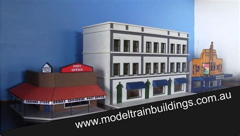 3 story building ho scale 3 story office block with shops kit model