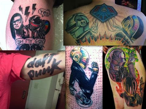daft punk tattoo the craziest edm lovin dj tattoos dc clubbing