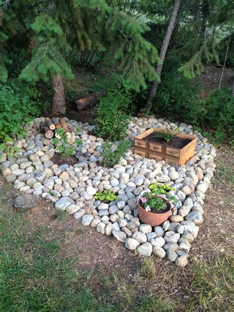 Heart Shaped Rock Garden Outside Pinterest Gardens Small Rocks For Garden