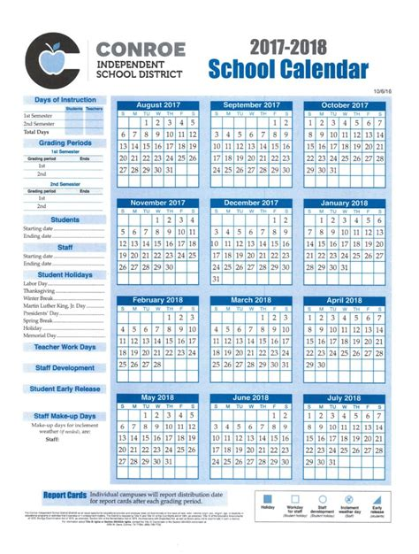 Davis School District Calendar School Calendar Process Conroe Isd