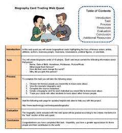 biography trading cards teacher web quest sample