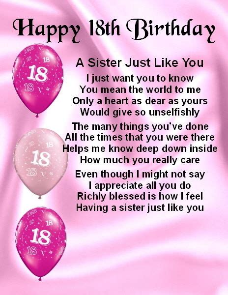 Quotes For 18th Birthday 18th Birthday Poems Quotes Quotesgram