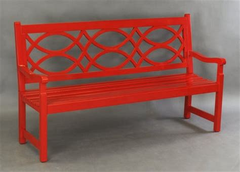 red outdoor bench things that inspire garden benches