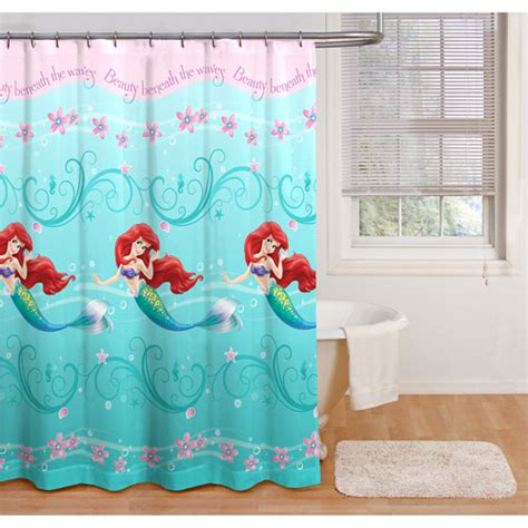 little mermaid drapes little mermaid shower curtain walmart com
