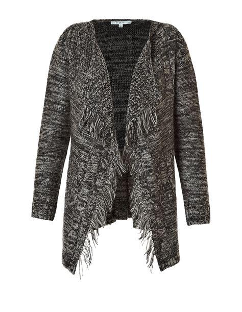 waterfall drape cardigan open knit waterfall drape sweater cleo