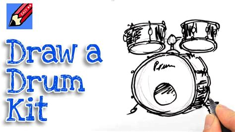 real drum tutorial for beginners learn how to draw a drum kit real easy for kids and