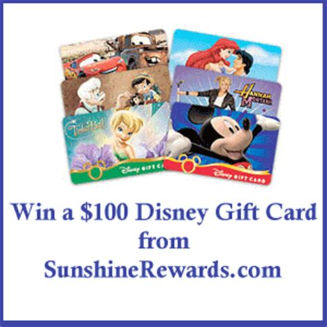 Disney Gift Card Giveaway - 100 disney gift card giveaway