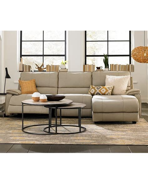 sectional sofa macys fabric power reclining sectional sofa living room