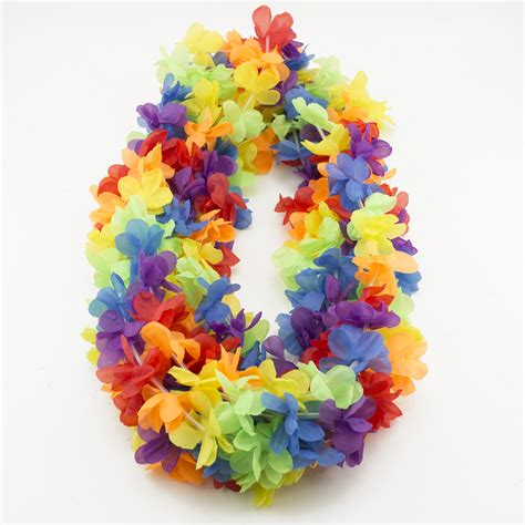 Hawaiian Giveaways - 50 simulated silk leis hawaiian lei luau party favors supplies beach pool party ebay
