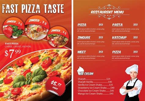 free pizza menu templates 21 menu flyers psd vector eps jpg