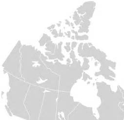 map of canada blank printable
