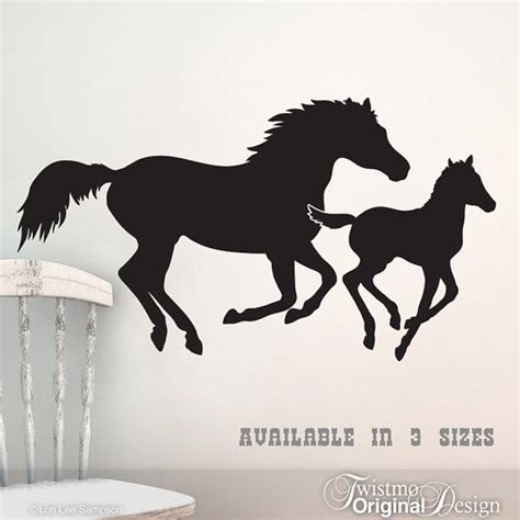 Galloping Horses Vinyl Wall Art Mare And Foal Horse Wall best 20 horse wall art ideas on pinterest art wall kids
