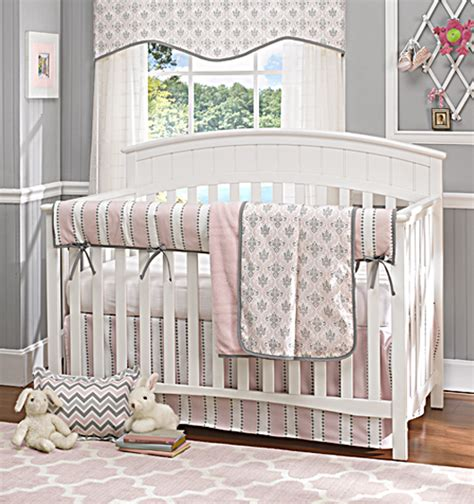 grey and pink baby bedding liz and roo partners with brixy to launch baby bedding for