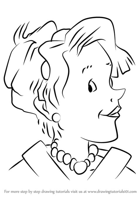learn how to draw mother from junie b jones junie b