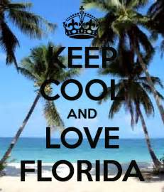Florida Cool keep cool and love florida poster analyn keep calm o matic