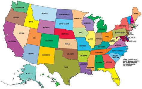 all fifty states 50 states map