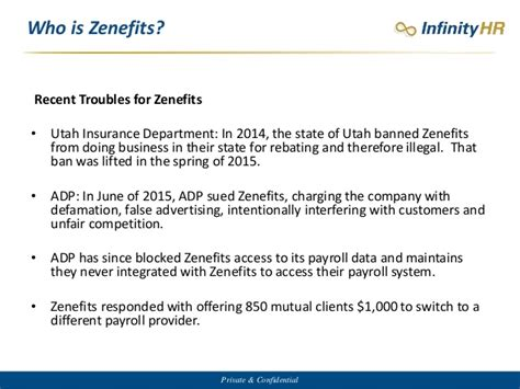 Utah Insurance Letter To Zenefits How To Compete Against Zenefits