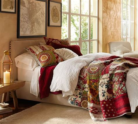 floral patchwork quilt sham pottery barn