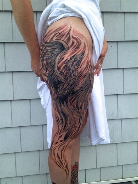 phoenix tattoo on thigh phoenix thigh tattoo a very beautiful phoenix thigh tattoo