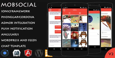 phonegap templates for android mobsocial ionic cordova phonegap hybrid app template and