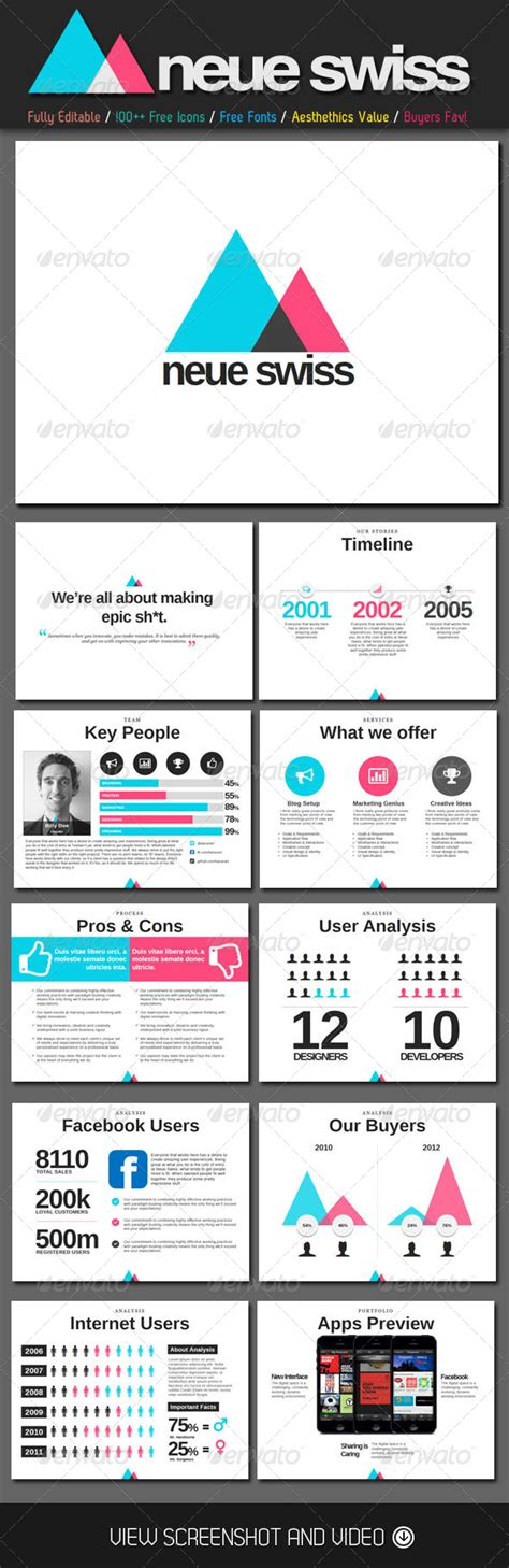 Presentation Template Graphicriver Neue Swiss Style Powerpoint Template 4583663 187 Dondrup Com Graphicriver Powerpoint Templates