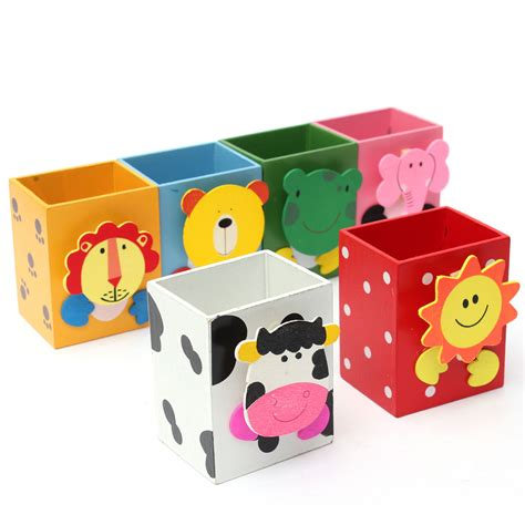 cute pen holder for desk kids student cute animal pen holder desktop desk pencil