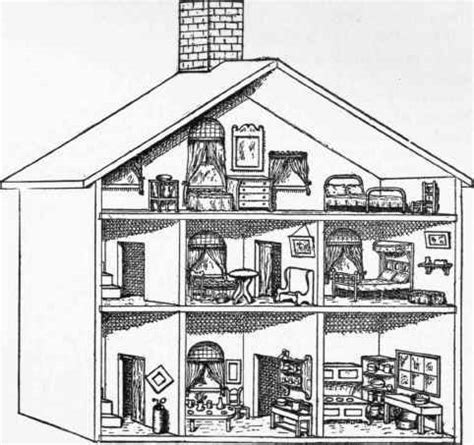 inside of a doll house simple doll drawing images