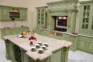 Green Kitchen Cabinet by Pictures Of Kitchens Traditional Green Kitchen Cabinets