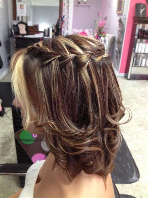 layered twist hair styles waterfall braid works on medium layered hair too cuz
