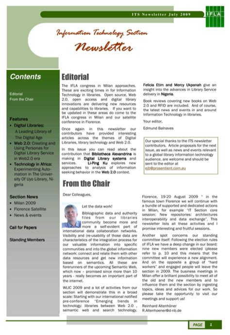 download business newsletter template for free formtemplate