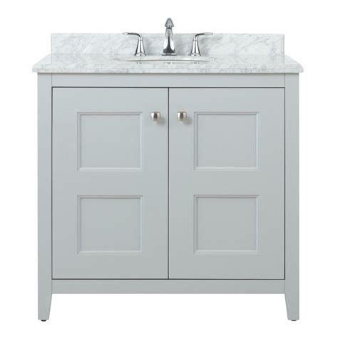 Grey Vanity White Top Home Decorators Collection Union Square 36 In Vanity In