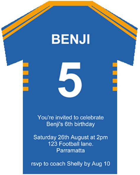 printable rugby birthday invitations make rugby league invitations