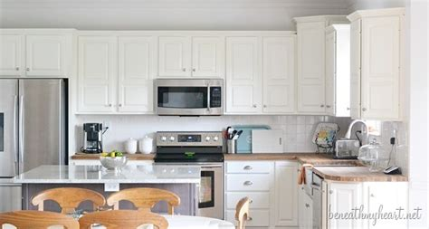 Kitchen Makeover Reveal Beneath My Heart White Dove Kitchen Cabinets