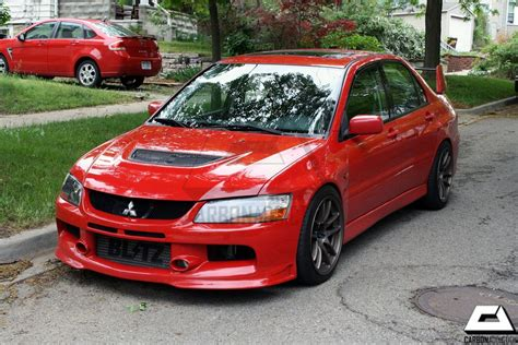 mitsubishi evolution 9 mitsubishi evo 9 se style carbon front lip carbon addiction