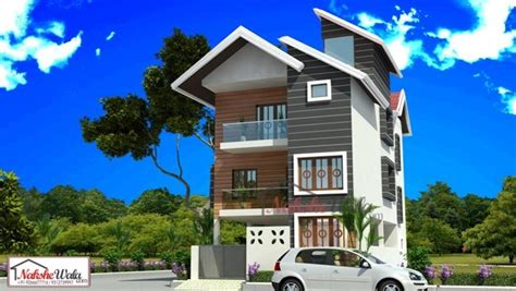 Home Design For 2000 Sq Ft 3d front elevation design indian front elevation kerala