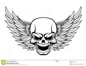 skull with wings royalty free stock photos image 23451298