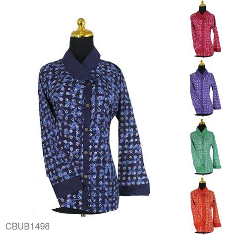 Blus Lengan Panjang blus batik panjang motif ceplok salur blus lengan