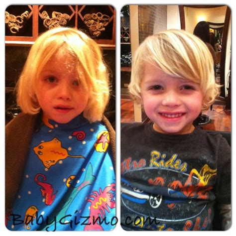 toddler haircuts before and after when the baby becomes a boy the haircut baby gizmo